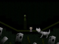 Fairytale woods wolf