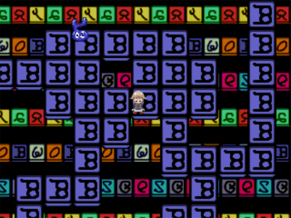 Rainbow tiles maze