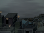 Decrepit dwellings rooftop
