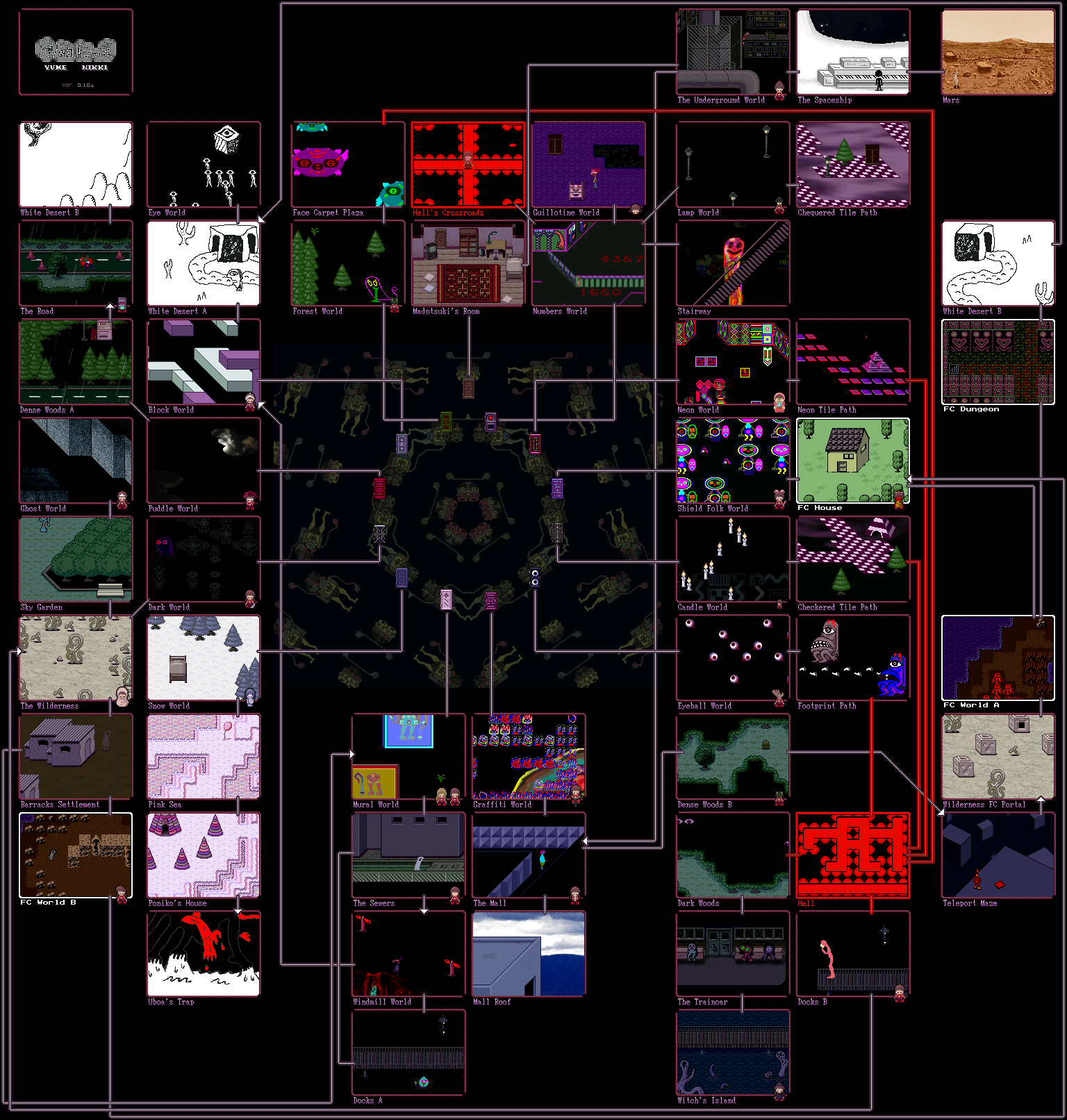 List of locations yume nikki wiki fandom powered by wikia yumemap gumiabroncs Gallery