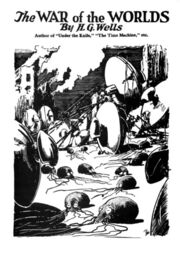 War of the Worlds original cover bw