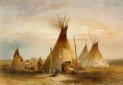 Sioux tipi Karl Bodmer(1833)