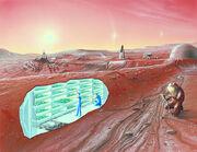 Concept Mars colony