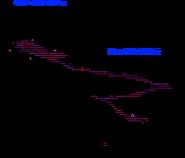 Neon Tile Path Map