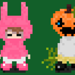 concept sprites for Anarchy's antagonists. from left to right: Aries, Survivalism, Celtic, Sullivan; via /fg thread