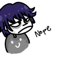 creator's caricature of the protagonist, via tumblr
