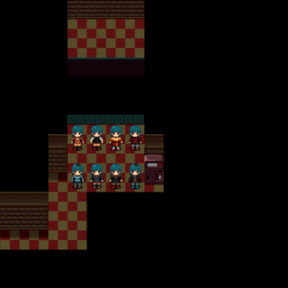 Top row: Eun's outfits. Bottom row: Unused collectable costumes.