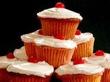 Cherry Nut Cupcakes