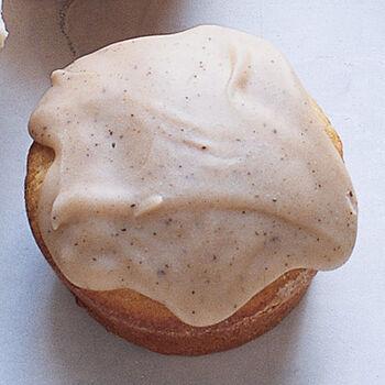 Brown sugar pound cupcake with butter glaze