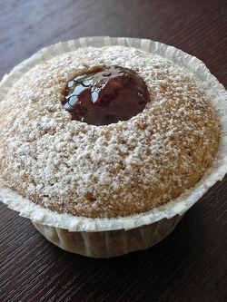 Linzer Cupcake
