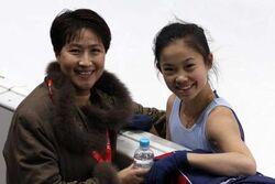 Caroline Zhang and Li Mingzhu 2007-2008 GPF