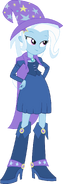 Trixie (EG) with a cape and hat