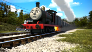 James in his black livery in The Adventure Begins