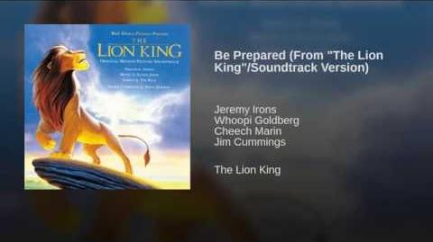 """Be Prepared (From """"The Lion King"""" Soundtrack Version)"""