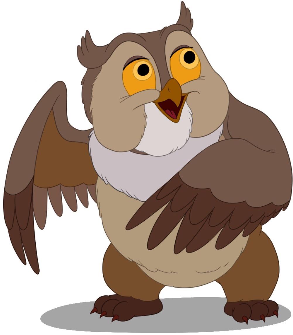 Картинки сов из мультфильмов