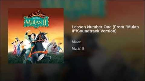 """Lesson Number One (From """"Mulan II"""" Soundtrack Version)"""