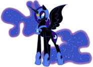 Nightmare Moon (with her evil logo)