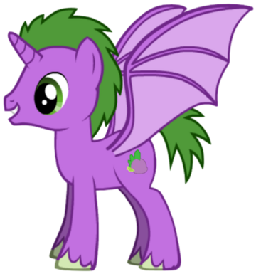 Spike's pony form