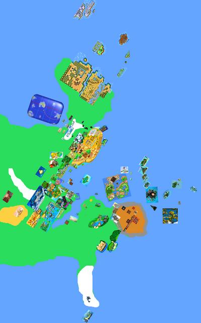 Mushroom Kingdom Map view