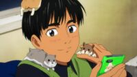 Phichit with hamsters