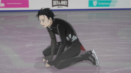 Yuuri after his short program
