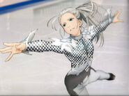 Young Victor's skate with Agape costume