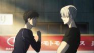 Yuuri with Viktor episode 11