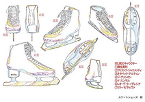 Setting material collection 5 Yuuri's skates