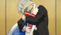 Victor hugs Yuri on Final