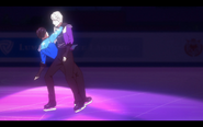 Viktor and Yuuri on the ice 8