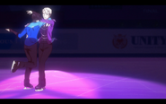 Viktor and Yuuri on the ice 7