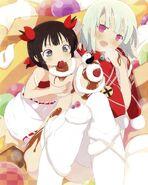 Young Kagura and Naraku