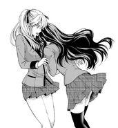 Tsuzura hugging Mary