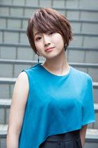 Yumiri Hanamori in blue