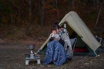 Rin Shima (TV drama) solo camping