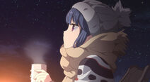 Rin at night with hot drink