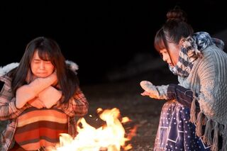 Nadeshiko pained with Rin by fire (TV drama)
