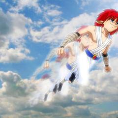 Jin volando