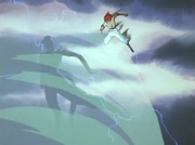 Jin using tornado explosion