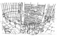 Transylmaniac - Library background sketch 2