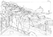 Sweet Power - City background sketch 1