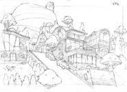 Sweet Power - City background sketch 2