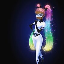 Lady Butterfly - Rainbow hair concept art