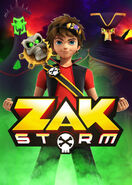 Zak Storm with villains promotional artwork