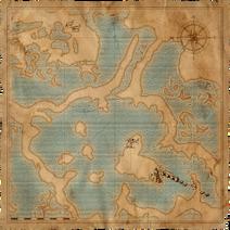 Cintorín v močiaroch - Mapa