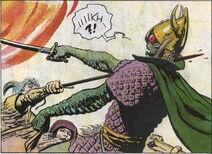 Korin killing a vran