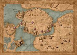 Map Vizima gates