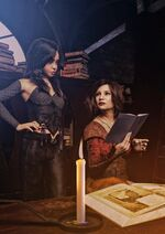 Tissaia and young yennefer witcher novels by aschmit