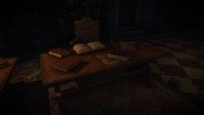 Stolek s dopisem