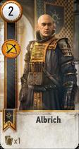 Tw3 gwent card face Albrich